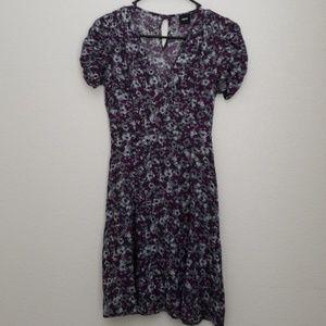 Floral Grunge Mini Dress